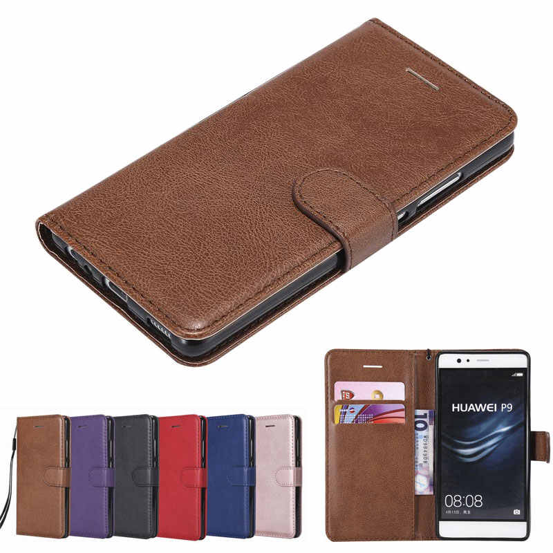 For Huawei P8 P9 Lite Case Cover On Luxury With Card Slot Wallet Magnetic Flip Leather Phone Bags For HUAWEI P 8 9 p9lite Coque