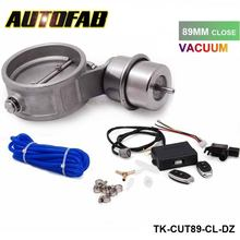 Exhaust Control Valve Set With Vacuum Actuator CUTOUT 89mm Pipe CLOSE STYLE with Wireless Remote Controller AF-CUT89-CL-DZ