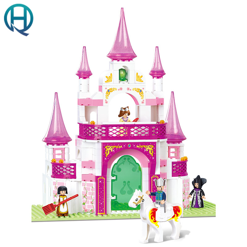 Sluban 271pcs Girls Friends Dream Princess Castle Friends For Girl Building Set Girls Toys Compatible With Playmobil<br>