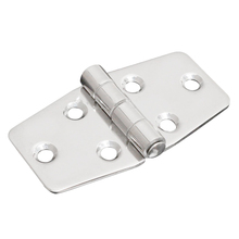 "1x 3"" Stainless Steel Boat Marine Grade Flush Door Hatch Compartment Hinges Silver"