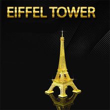 Eiffel Tower Kids Toys For Toddlers Jigsaw Puzzles Nano DIY Model Building Architecture Juguetes Educativos 3D Metal Puzzles