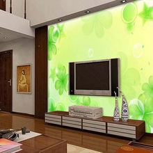 ShineHome-Romantic Green Clover Dream Room Renovation Background Wallpaper Rolls for Livingroom Wall Paper Mural Rolls Covering