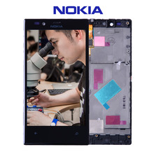 Original For Nokia Lumia 720 LCD Touch Screen with Frame For Nokia Lumia 720 Display Digitizer Assembly Replacement Parts N720(China)