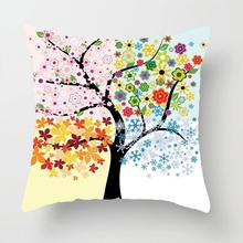 Manufacturers Selling Garden Flowers Tropic Plants Print Pillow Cases Plush Cushion Cover Flowers Home Decoration Accessories