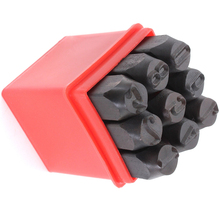 Practical Stamps Numbers Set Punch Steel Metal Tool Case Craft Hot 6mm(China)
