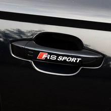 RS Sport PVC Sticker Door Handle Cover Styling Trim Race For Audi RS1 RS3 RS4 RS5 6 A4 A1 A2 A3 A5 A6 RS4 S4 Q3 Q5 Q7 TT A8 A4L