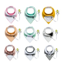 10 styles  new fashion  can add  pacifier unique cartoon triangle cotton towel Baby Bib slobber double Children's accessories