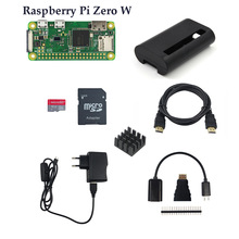 Power-Adapter Starter-Kit W-Board Raspberry Pi Rpi Zero Zero/zero-W Abs-Case Heat-Sink