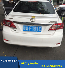 For Toyota Corolla Spoiler TAIWAN STLY ABS Material Car Rear Wing Primer Color Rear Spoiler For Toyota Corolla Spoiler