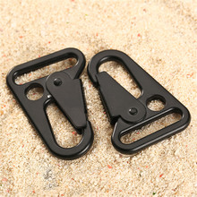 2Pcs Molle HK Sling Clips Quick Release Spring Carabiner Snap Hook Strap Keychain Buckle Rope Rifle Gun Attachment Outdoor Tools