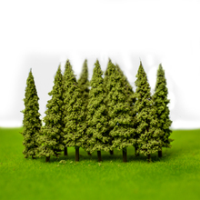 artificial Plastic 100Pcs/Set Architecture 5.5cm ABS plastic mini scale model trees for railroad model train layout(China)