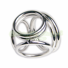 4 rings sex toys products adult special stainless steel gay penis ring for men sleeve metal cock ring male chastity unique dick(China)