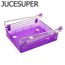 JUCESUPER Kitchen Storage Box Refrigerator Storage Rack Classified Storage Combination Of Shelves Debris Box Table Drawer