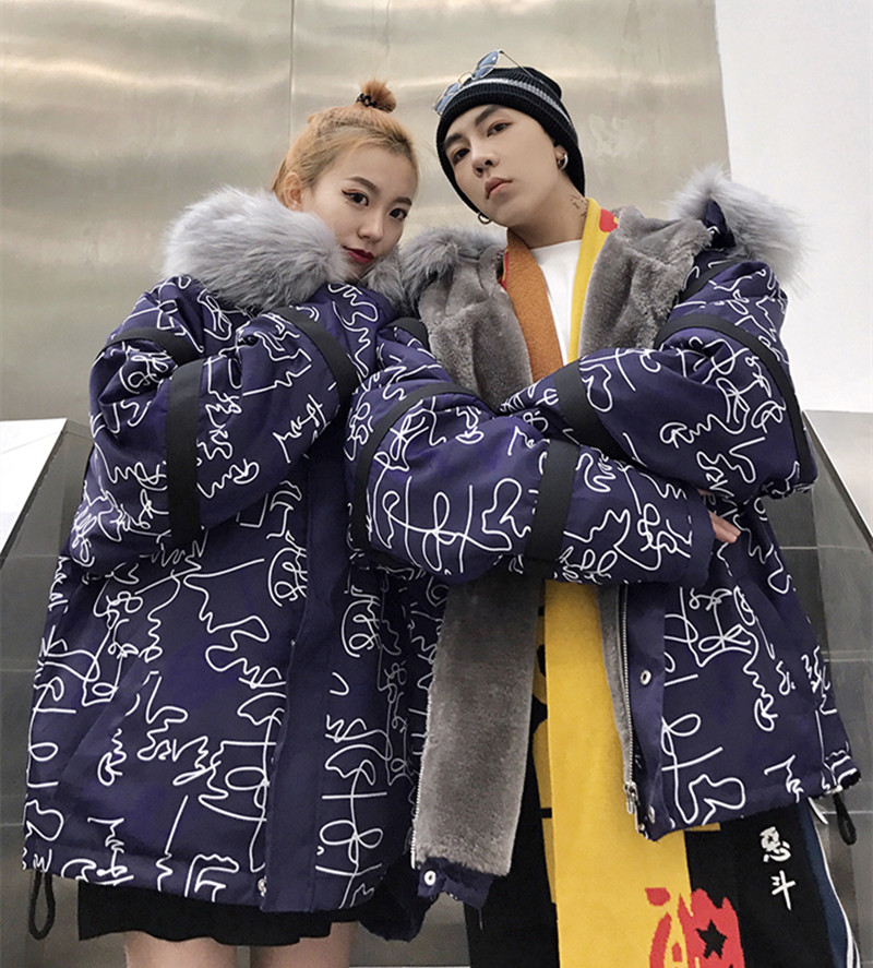2018 Couple Winter Coat