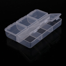 2017 Mini Portable Empty Braille 6 Cells Pill Medicine Drug Storage Case Box for pills nail art small jewelry Sealed storage(China)