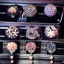 Car Styling Luxury Car ornaments Girl Exquisite Diamond Air conditioning outlet Car Air Freshener Agent Perfumes Air Vent Clip