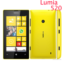 "Original 520 phone Nokia Lumia 520 cell phone Dual core 8GB ROM 5MP GPS Wifi 4.0"" IPS unlocked windows phone Refurbished(China)"