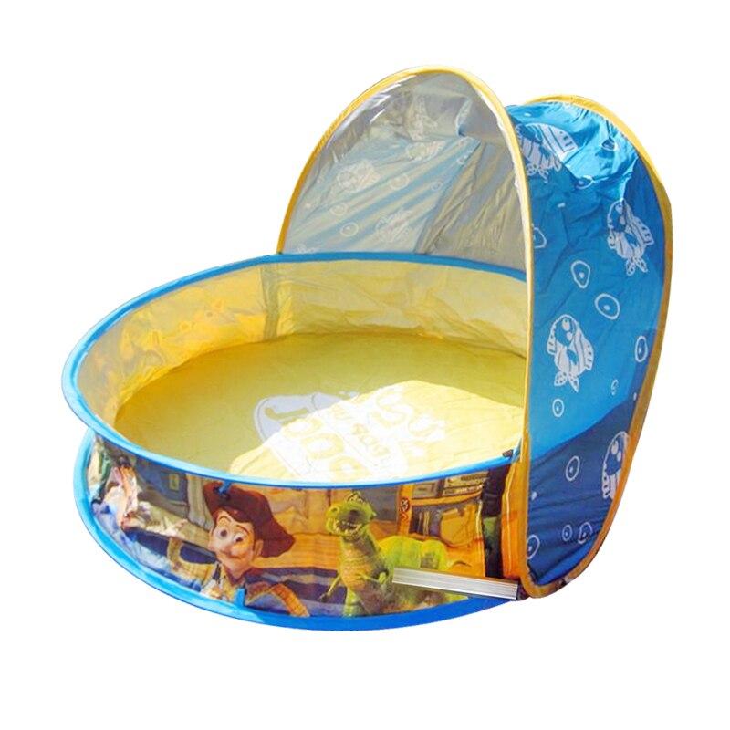 Cartoon PVC foldable Large Children Pool  Playground With Ocean Ball Pool Summer High Quality Bath Crock Skylight<br>