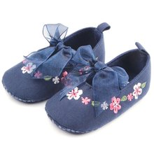 2017 Spring Summer New Style Baby Girls Toddler Shoes Kids Embroidered Cotton Fabric Shoes D8