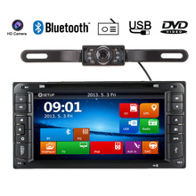 HD 6.95 Inch Car DVD Player In Dash 2 Din Car PC Stereo GPS Navigation+Bluetooth+Radio for Toyota Universal(China)
