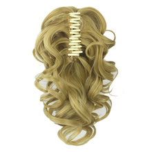 Soowee Curly Hairpiece Synthetic Hair Blonde Black Clip In Hair Extension Little Pony Tail Claw Ponytails