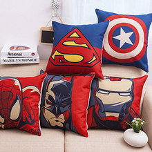 Superhero Avengers Supe cotton Linen cushion cover  cushions  for Sofas coffee shop office car home decor Throw Pillow Case