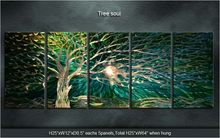 Original tree soul/ evergreen tree Modern Handmade Metal Art Abstract Sculpture Wall Painting Special  Indoor Outdoor Decor
