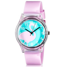 Willis for Mini Kid's Student's Fashionable Swan Pattern Analog Wrist Watch(China)