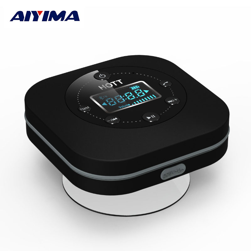 AIYIMA Portable Bluetooth Speaker Waterproof Handfree Profile Built in FM Clock And Microphone Wireless Bluetooth Speakers(China (Mainland))