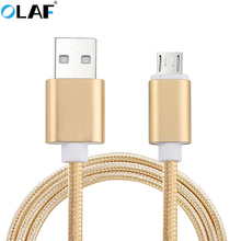 Buy OLAF Nylon Braided Micro usb cable Fast Charging Data Sync Charger USB Cable Samsung Xiaomi Huawei HTC Mobile Phone Cables for $1.99 in AliExpress store