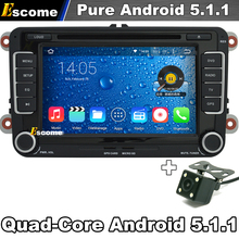 Pure Android 5.1 Car DVD Player For VW EOS 2006-2013 VW Caddy 2003-2013 VW Jetta with GPS Car Autoradio Rear View Camera(China)