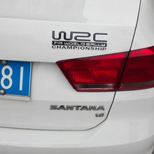 Small 20CM WRC reflective car vinyl sticker stick any where 2 pcs more 20% off(China)
