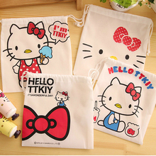 2394A Japanese and Korean stationery cute cat DrawString storage bag non-woven fabric  shoe bag