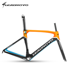 Carbon areo road bike frame 2017 T800 carbon bicycle frameset road bike frame accept customized painted LEADNOVO