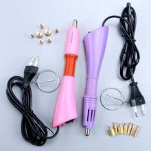 Fast Heated! Purple / Pink Iron-on Hot Fix Rhinestone Applicator Wand Heat-fix Tool Free Ship Without Rhinestones