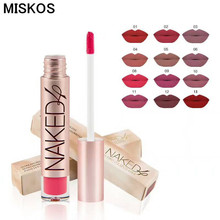 Miskos Brand High Quality 12 Matte Color Lip Gloss Easy to Wear Long Lasting Lips Makeup Liquid  Lipstick Naked