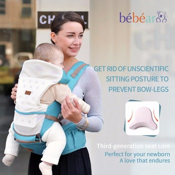 Bebear nueva hipseat para recién nacido y prevenir piernas de tipo o 6 en 1 carry estilo oso de carga 20Kg kid sling portabebés Ergonómicos