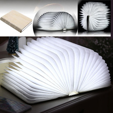 DHL/UPS Shipping Portable Folding LED Book Design Wooden Material Light Desk Reading Lamp Pendant Lamp USB Rechargeable Lamp
