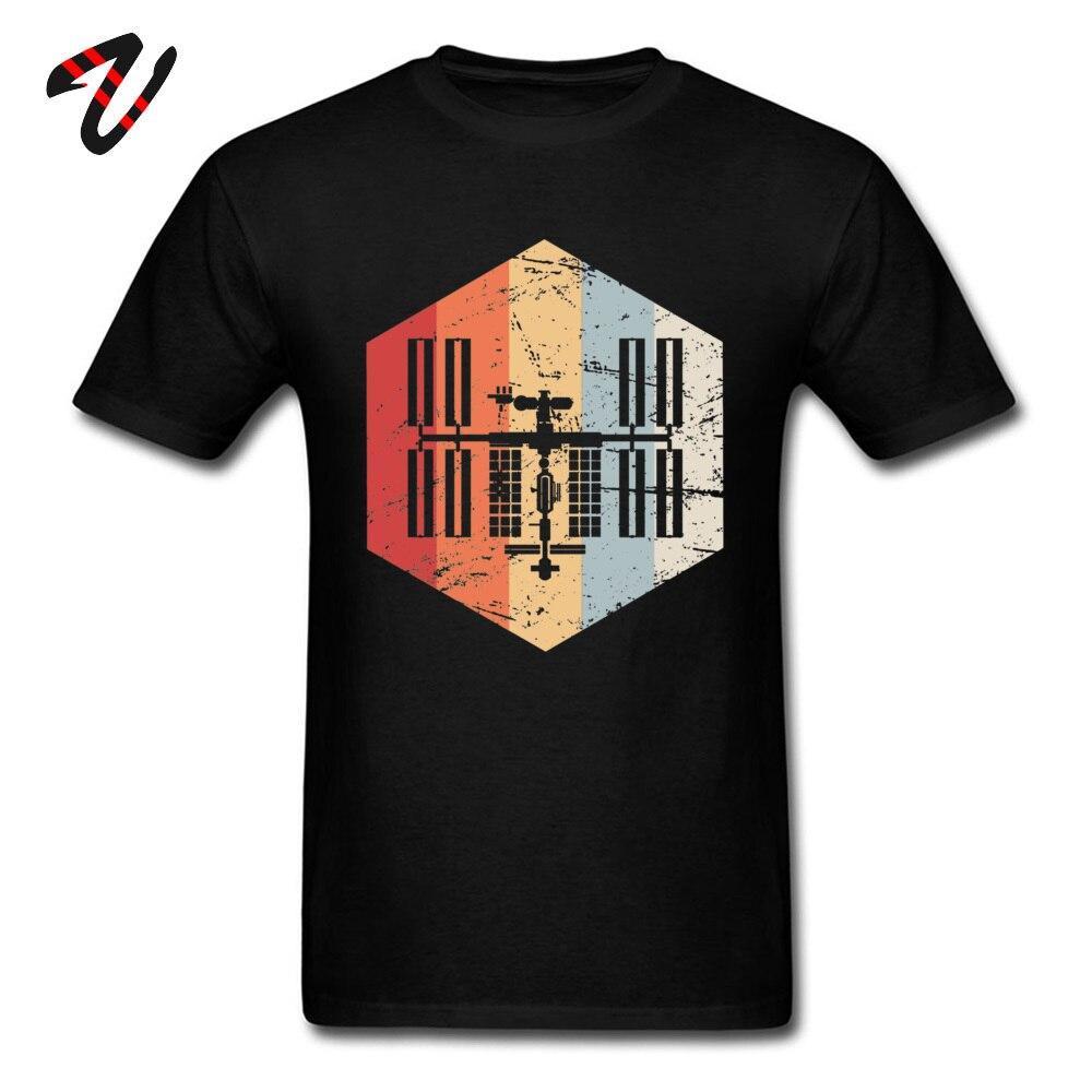 Printed On _black T Shirt Hot Sale Short Sleeve Men T Shirts TpicOriginaltitle Fitness Tight Summer Autumn Tops Shirt Crew Neck Retro ISS International Space Station Icon 19 black
