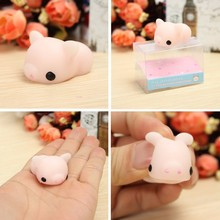 New Pink Piggy Squishyed Squeeze Pig Cute Healing Toy Kawaii Collection Stress Reliever Gift Decor Toy For Children Adult