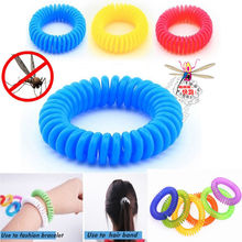 10PCS Anti Mosquito High Elastic Insect Repellent Wrist Hair Band Bracelet Camping Outdoor Summer Jewelry