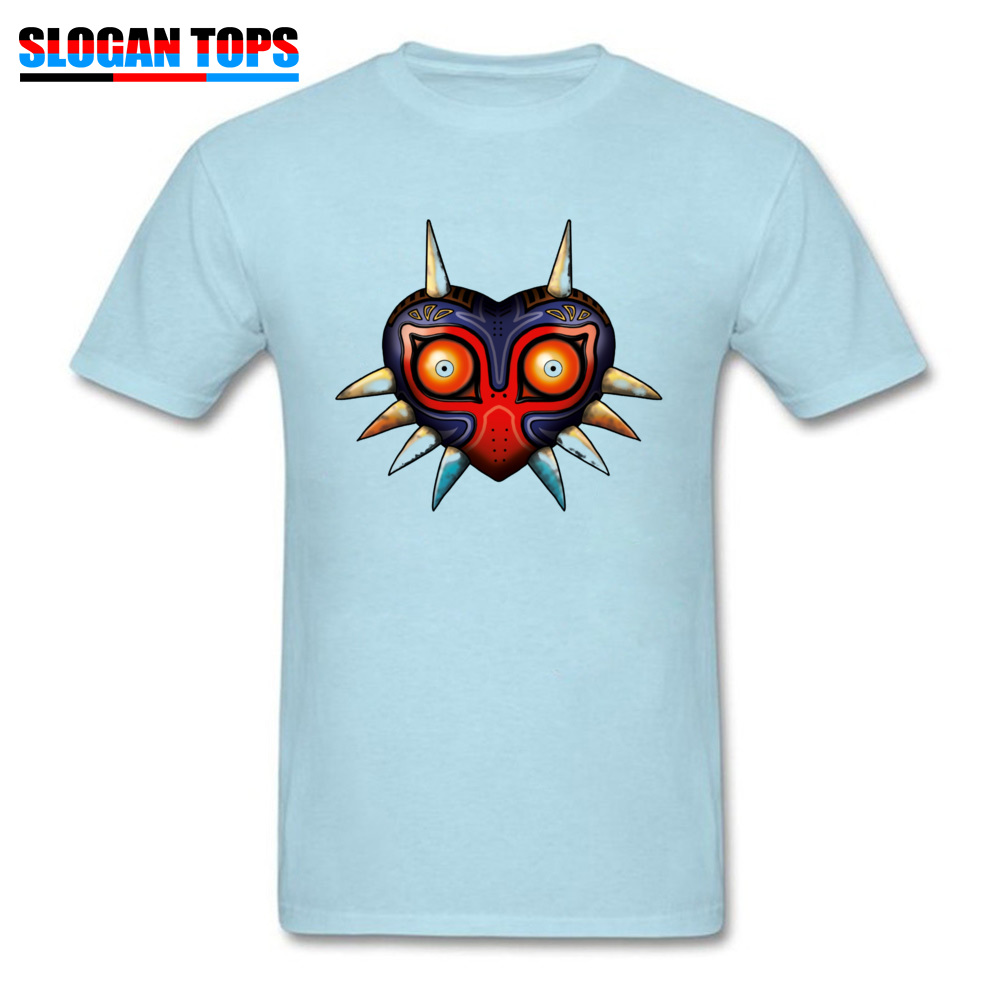 Hip hop Majoras Mask Zelda 17572 Male Tshirts 2018 Popular Summer Fall Short Sleeve Tops Shirts Crewneck 100% Cotton T-Shirt Majoras Mask Zelda 17572 light