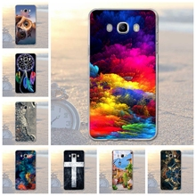 New fashion Case for Samsung Galaxy J7 (2016) J710F J710 Case Soft Silicon Snow Road Landscape For Galaxy J7 2016 Case Cover