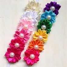 Brand Cute Baby Girl Hairband Rainbow Colorful Flower Hair Acessories Photography Kids Headwear Accs