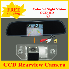 Promotion 2 in 1 HD 4.3 inch 800*480 Car Mirror Monitor + HD ccd parking camera for Ford  FOCUS SEDAN(3C)/MONDEO/ C-MAX