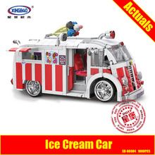 Xingbao 08004 1000Pcs Genuine Technic Series The Ice Cream Car Set Building Blocks Bricks Children Educational Toys Model Gift