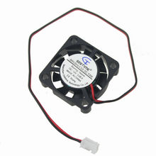 Gdstime 5pcs 25x25mm 2507s 25mm 2 Pin 12V 9 Blade Small Brushless Cooler DC Cooling Fan 25x25x7mm