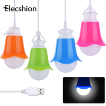 Elecshion LED Lamp USB Night Lights Camping Lantern Portable Bulbs Tent Lamps Light Energy For Book Reading Saving Lanterns Bulb