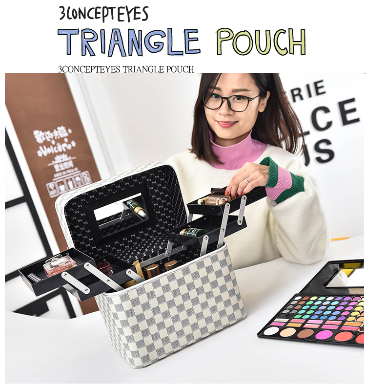 Ladies The New High Quality Big Capacity Portable Portable Storage Box Simple Makeup Box Fashion Waterproof Travel Professional