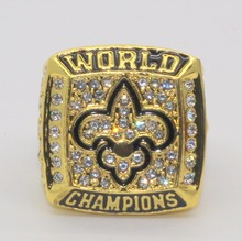 2009 New Orleans Saints Super Bowl world championship rings replica BREES drop shipping(China)